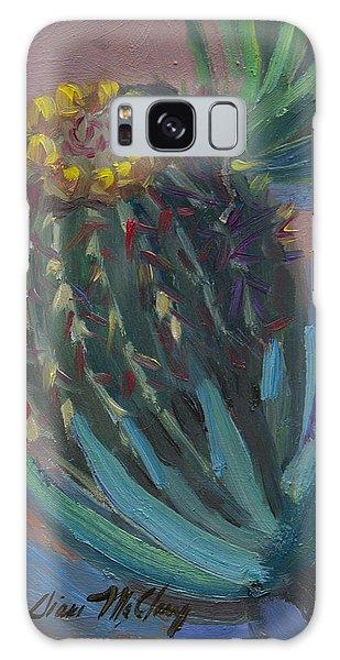 Barrel Cactus In Bloom - Boyce Thompson Arboretum Galaxy Case by Diane McClary