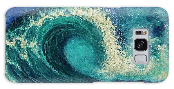 Galaxy Case featuring the painting Barrel Wave by Darice Machel McGuire