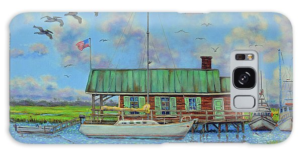 Barriar Island Boathouse Galaxy Case