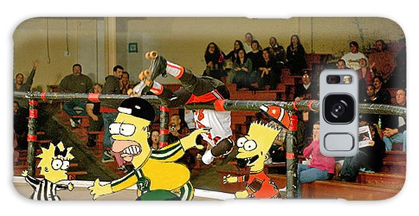 Bart Vs Homer Simpson At The Roller Derby Galaxy Case