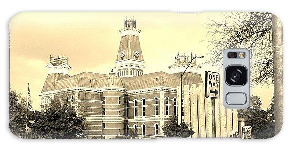 Bartholomew County Courthouse Columbus Indiana - Sepia Galaxy Case