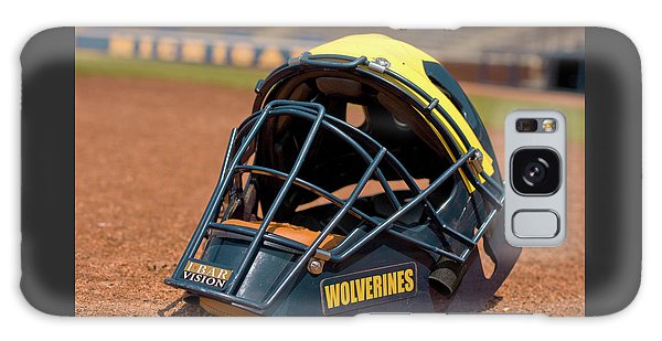 Baseball Catcher Helmet Galaxy Case
