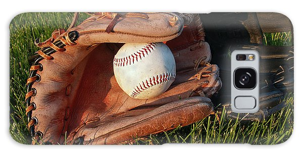 Baseball Gloves After The Game Galaxy Case by Anna Lisa Yoder