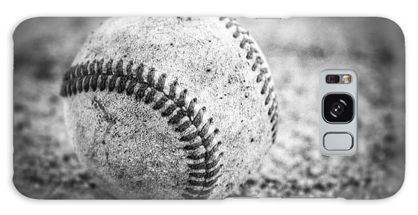 Baseball In Black And White Galaxy Case
