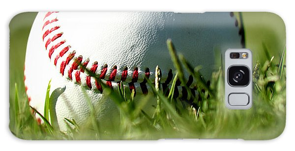 Baseball In Grass Galaxy Case