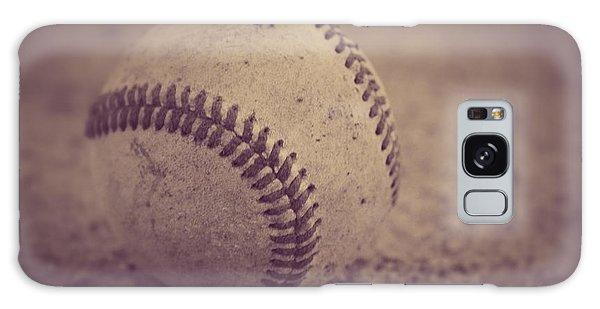Baseball In Sepia Galaxy Case