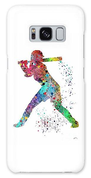 Softball Galaxy Case - Baseball Softball Player by Svetla Tancheva