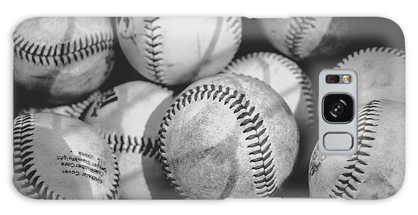 Baseballs In Black And White Galaxy Case