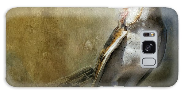 Bashful Barn Owl Galaxy Case