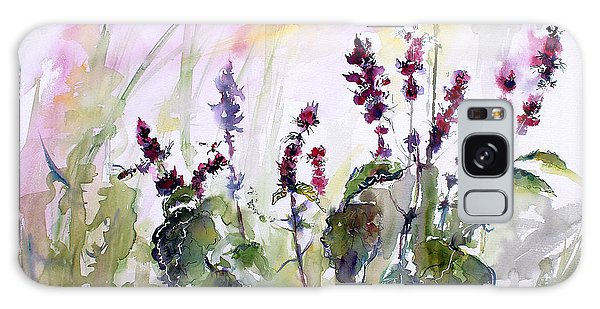 Basil Culinary Herb Watercolor Galaxy Case