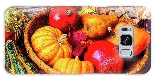 Indian Corn Galaxy Case - Basket Full Of Autumn by Garry Gay