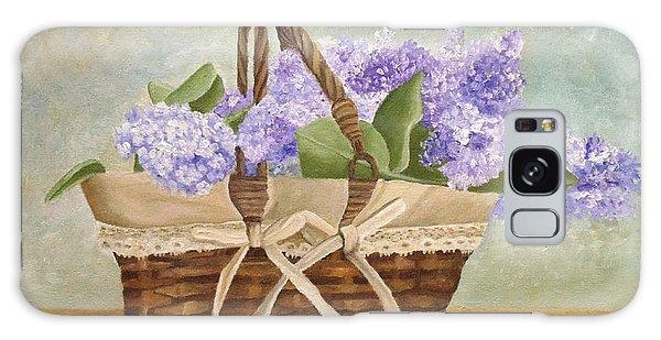 Basket Of Lilacs Galaxy Case