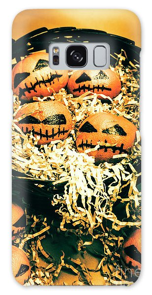 No People Galaxy Case - Basket Of Little Halloween Horrors by Jorgo Photography - Wall Art Gallery