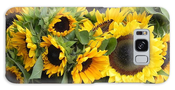 Basket Of Sunflowers Galaxy Case by Chrisann Ellis