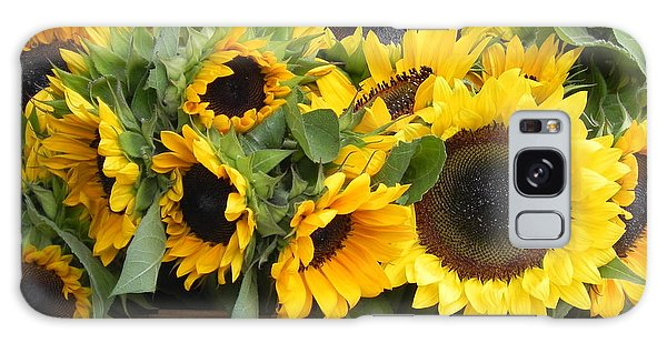 Basket Of Sunflowers Galaxy Case by Chrisann Ellis