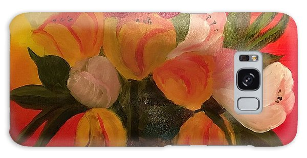 Basket Of Tulips Galaxy Case
