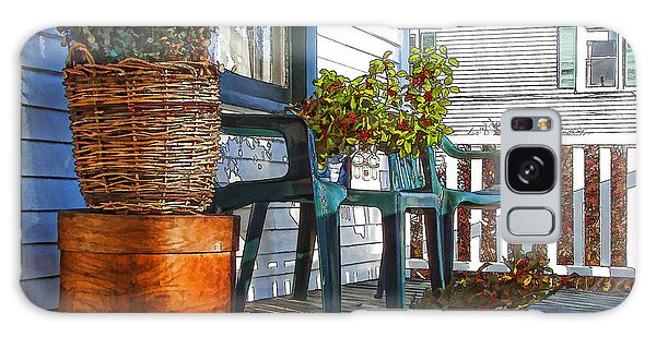 Basket Porch Galaxy Case by Betsy Zimmerli