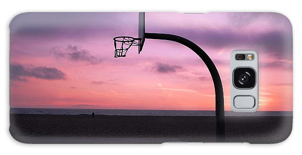 Basketball Court At Sunset Galaxy Case
