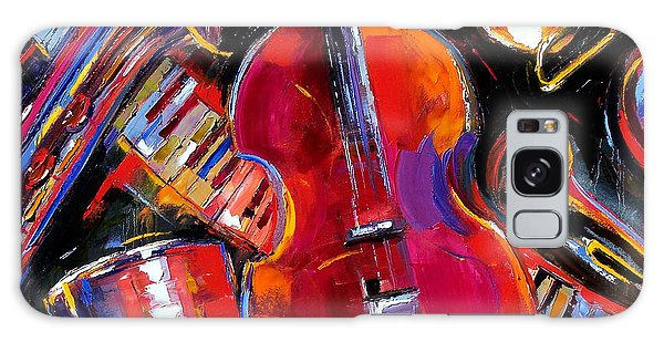 Drum Galaxy Case - Bass And Friends by Debra Hurd