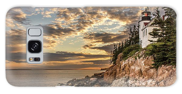Bass Harbor Head Lighthouse Sunset Galaxy Case
