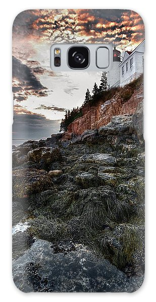Bass Harbor Light Galaxy Case