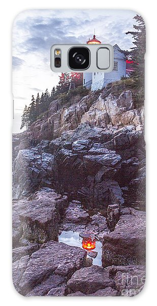 Bass Harbor Light Reflection Galaxy Case