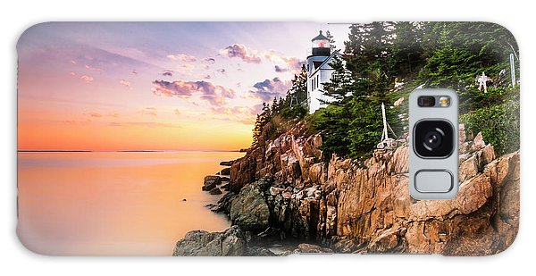 Bass Harbor Lighthouse Sunset Galaxy Case