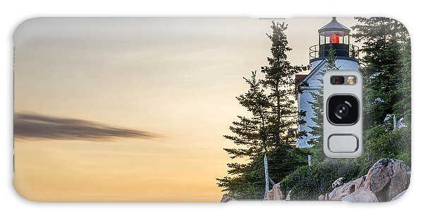 Bass Harbor Lighthouse Susnet  Galaxy Case by Trace Kittrell