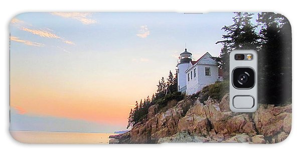 Bass Harbor Sunset II Galaxy Case