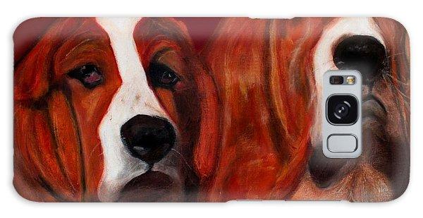 Basset Hound - Mia And Marcellus Galaxy Case by Laura  Grisham