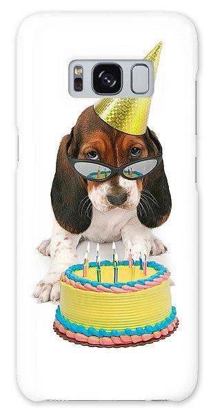 Basset Hound Puppy Wearing Sunglasses  Galaxy Case