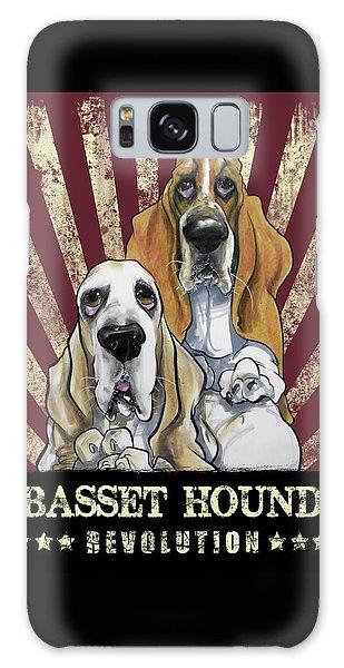 Basset Hound Revolution Galaxy Case