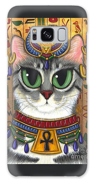 Galaxy Case featuring the painting Bast Goddess - Egyptian Bastet by Carrie Hawks