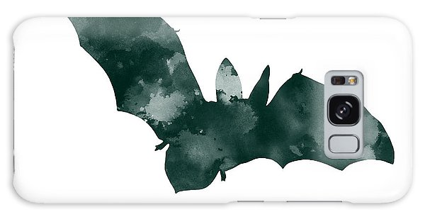 Bat Minimalist Watercolor Painting For Sale Galaxy Case