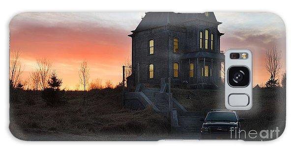 Bates Motel At Night Galaxy Case by Jim  Hatch