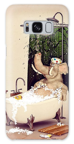 Bath Time Galaxy Case by Methune Hively