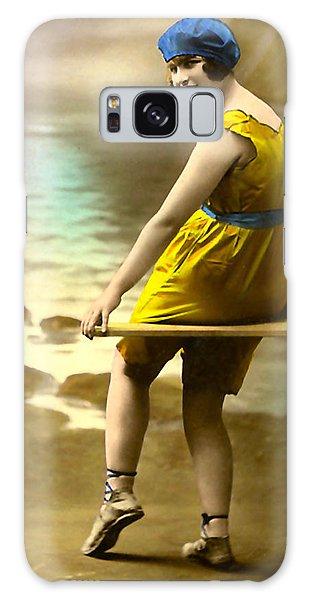 Bathing Beauty In Yellow  Bathing Suit Galaxy Case