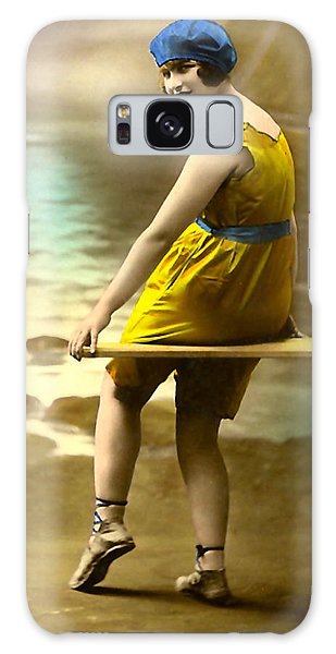 Bathing Beauty In Yellow  Bathing Suit Galaxy Case
