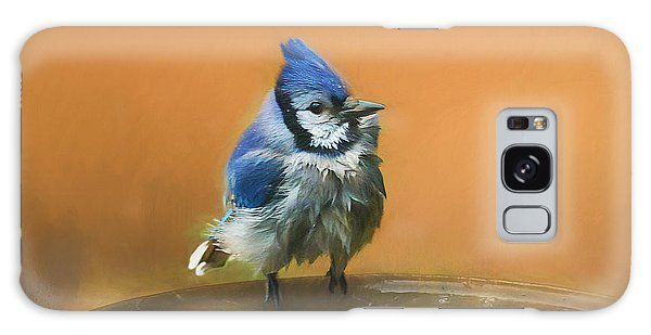 Bathing Blue Jay Galaxy Case