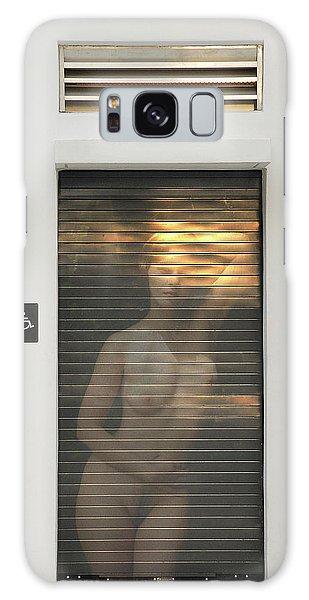 Bathroom Door Nude Galaxy Case by Harry Spitz