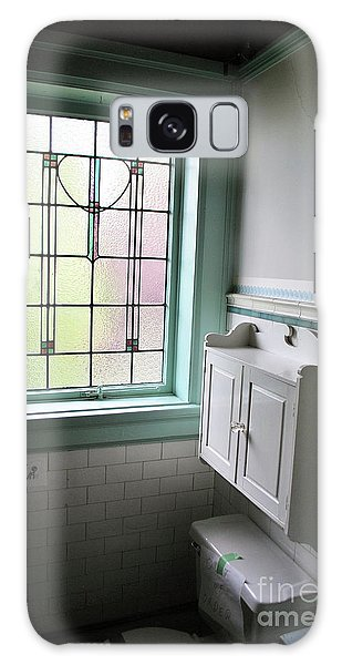 Galaxy Case featuring the photograph Vintage Bathroom Window by Bill Thomson