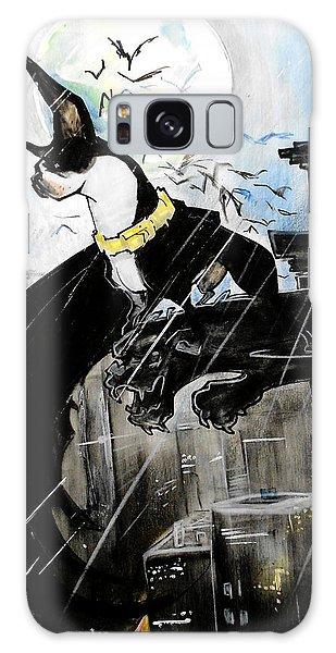 Batman Boston Terrier Caricature Art Print Galaxy Case