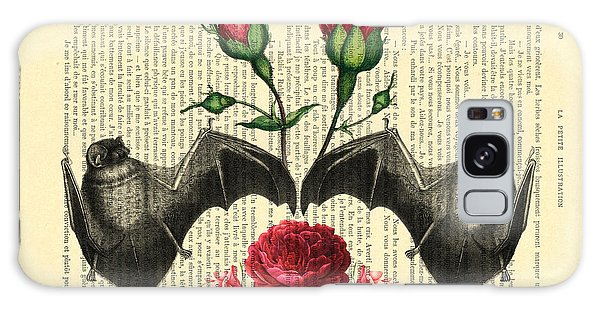 Punk Galaxy Case - Bats With Angelic Roses by Madame Memento