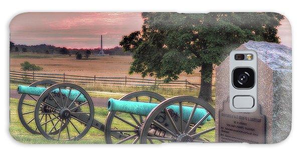 Battery F Cannon Gettysburg Battlefield Galaxy Case by Randy Steele