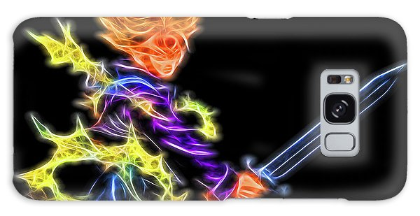 Galaxy Case featuring the digital art Battle Stance Trunks by Ray Shiu