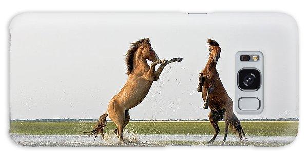 Battling Mustangs Galaxy Case