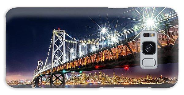 Bay Bridge And San Francisco By Night 5 Galaxy Case