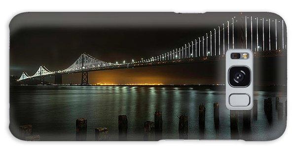 Bay Bridge At Night Galaxy Case