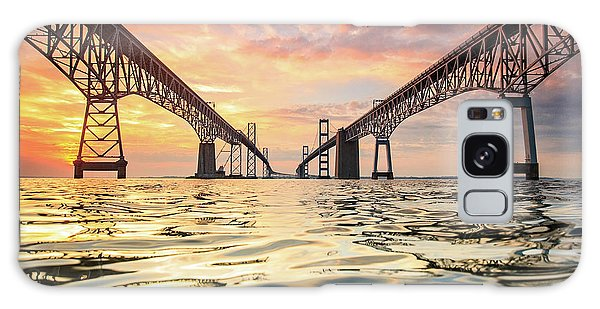 Architecture Galaxy Case - Bay Bridge Impression by Jennifer Casey