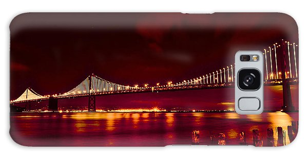 Bay Bridge Lights Galaxy Case